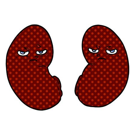 cartoon irritated kidneys