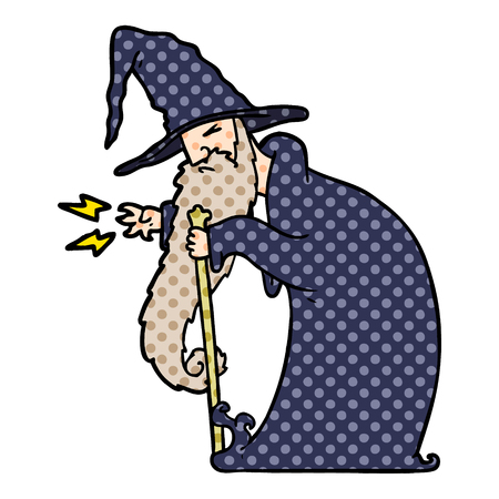 cartoon wizard illustration design