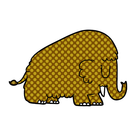 cartoon mammoth illustration design