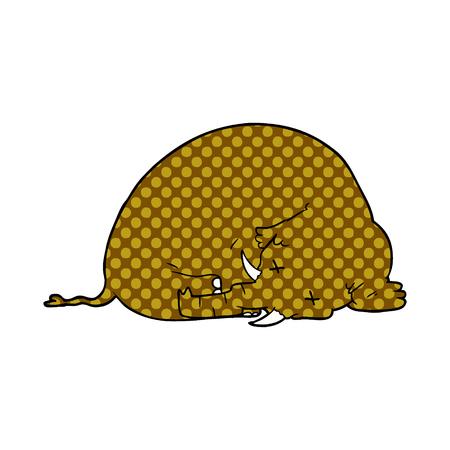 Cartoon tote Mammut Standard-Bild - 95639102