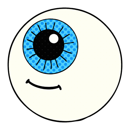 cartoon eyeball illustration design