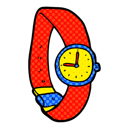 cartoon wrist watch Illustration