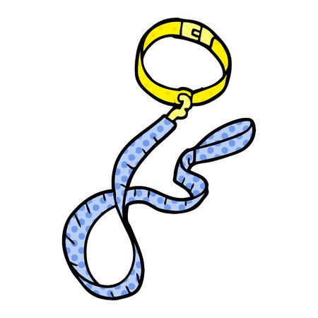 cartoon dog collar and leash Illustration