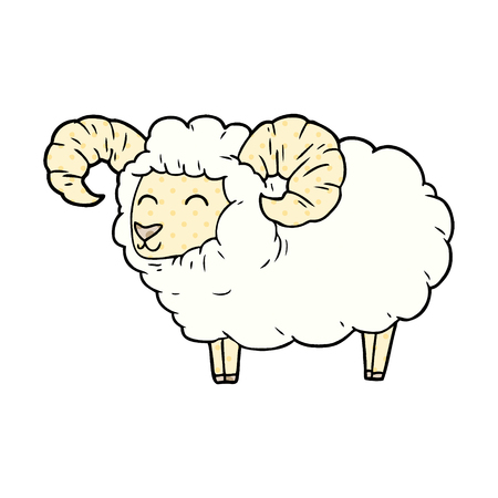cartoon ram illustration design Illusztráció