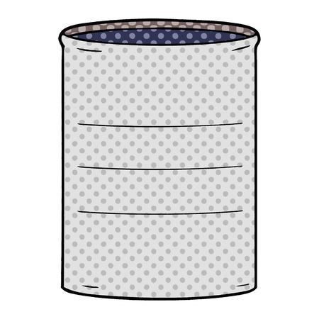 A cartoon oil drum