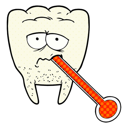 A cartoon unhealthy tooth Ilustração