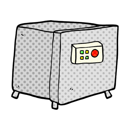 A cartoon safe