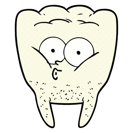A cartoon whistling tooth