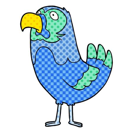 A cartoon parrot
