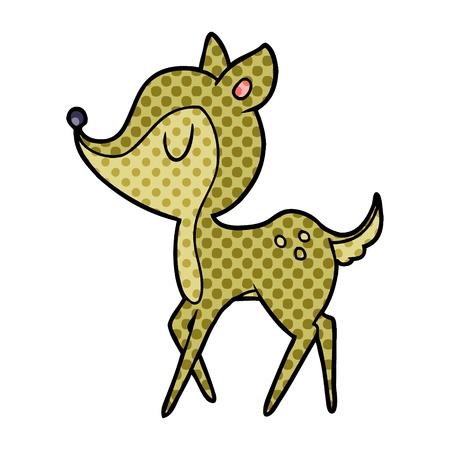 Een cartoon schattig hert