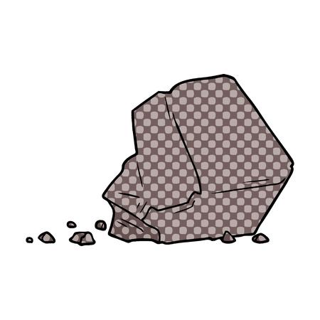 Cartoon großer Felsen Standard-Bild - 95639288