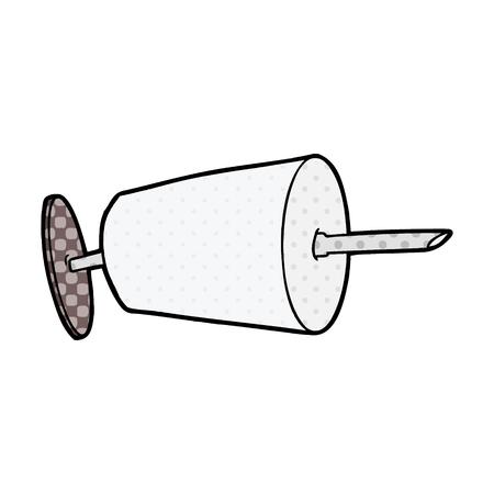 cartoon medical syringe Illustration