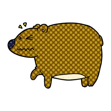 아픈 머리를 가진 만화 곰 스톡 콘텐츠 - 95638599