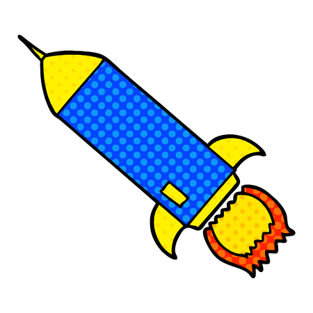 cartoon rocket illustration design