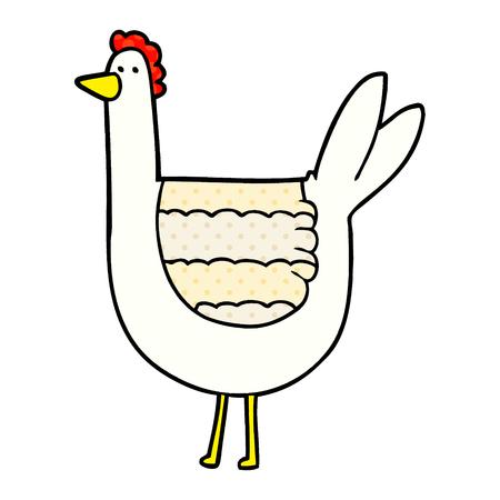 cartoon chicken illustration design Foto de archivo - 95639503
