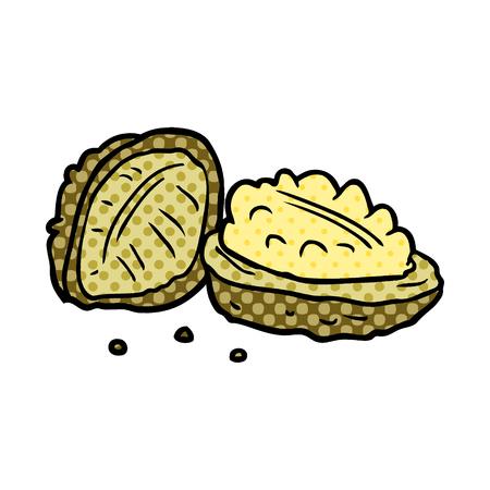 cartoon walnuts illustration design Ilustração