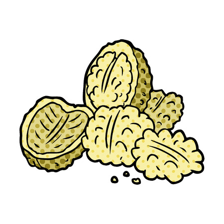 cartoon walnuts illustration design Imagens - 95639539