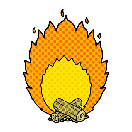 漫画燃えるキャンプ火災