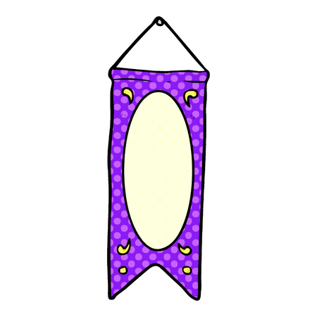 cartoon hanging regal banner