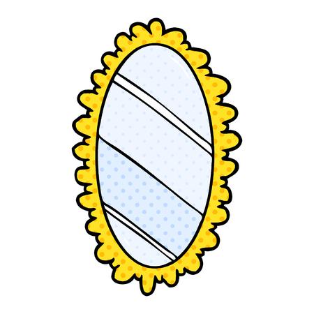 만화 액자 옛날의 거울