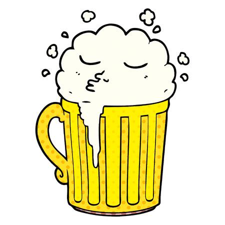 cartoon mug of beer Иллюстрация