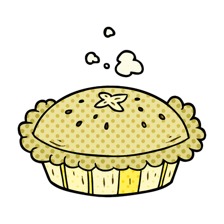 hot cartoon pie fresh out of the oven