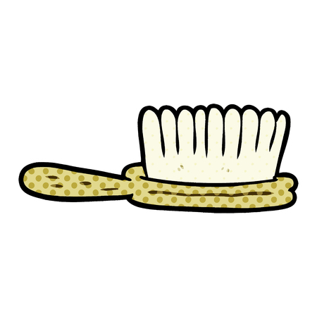Cartoon hairbrush 일러스트