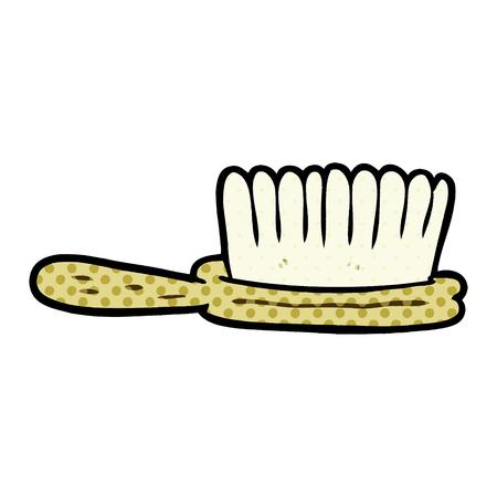 Cartoon hairbrush Illusztráció
