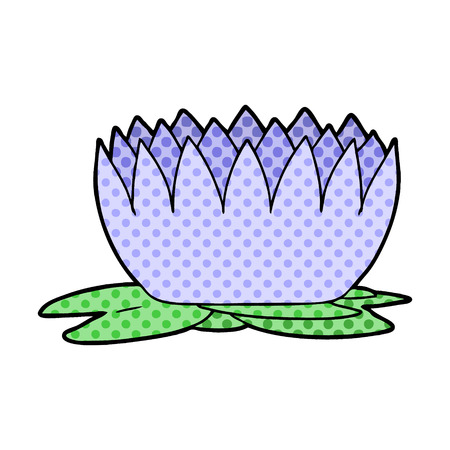 cartoon waterlily illustration design Иллюстрация