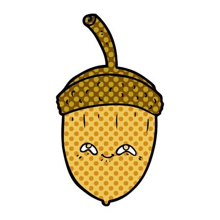 Cartoon acorn