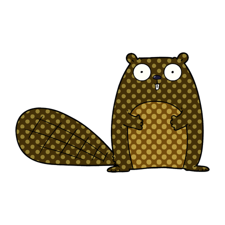 cartoon beaver illustration design Ilustracja