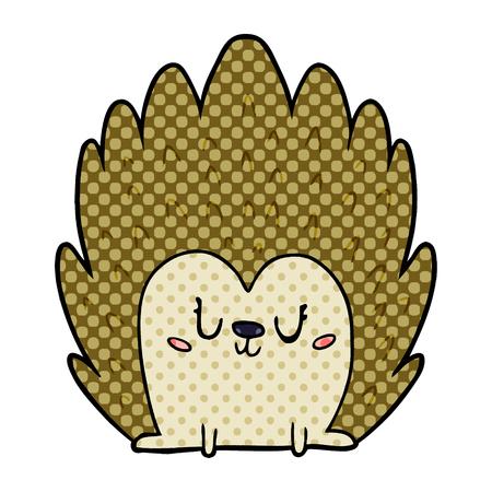 Cute cartoon hedgehog Ilustração
