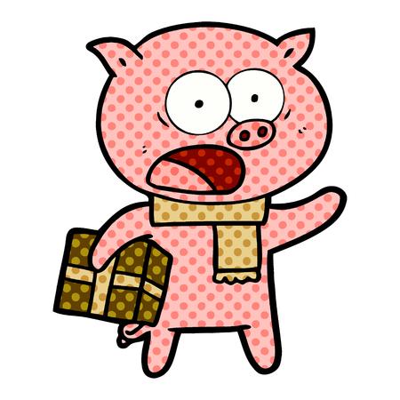 クリスマスプレゼントと漫画豚