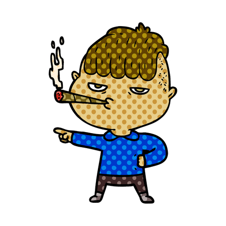 Cartoon man smoking Stockfoto - 95639703