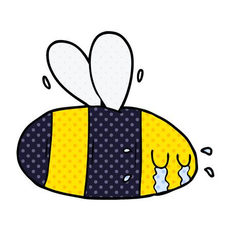 Cartoon crying bee