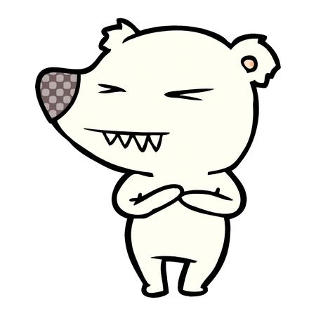 Angry polar bear cartoon Stock Vector - 95639780