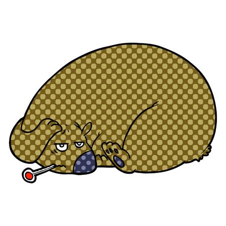 cartoon bear with a sore head