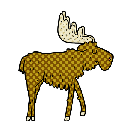 cartoon moose illustration design