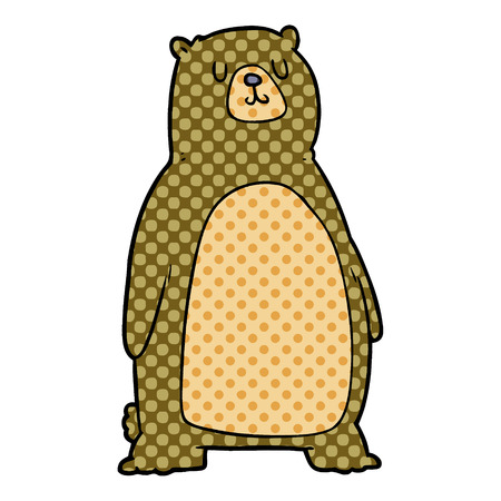 cartoon bear illustration design