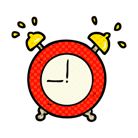 cartoon ringing alarm clock Illustration