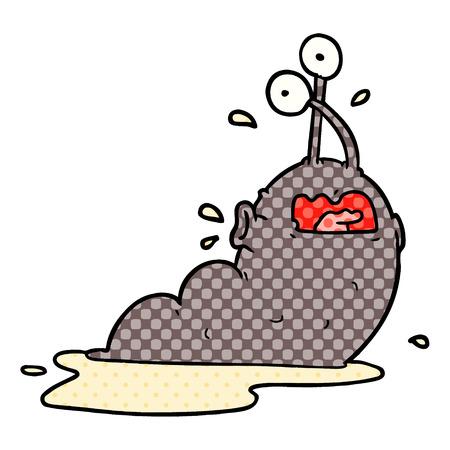 Gross cartoon slug