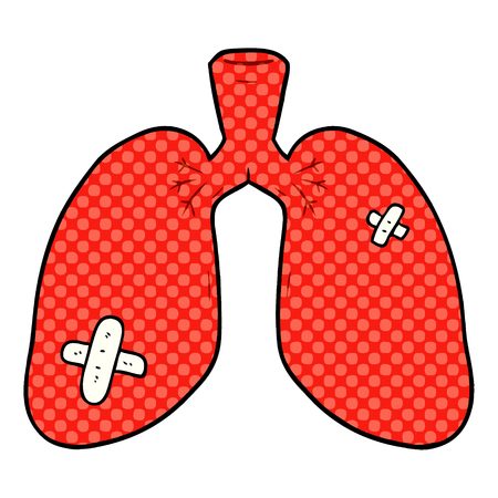Cartoon repaired lungs