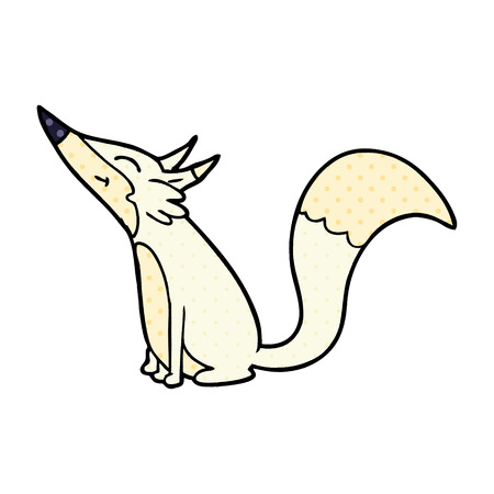 Cartoon arctic fox
