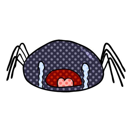 cartoon halloween spider crying