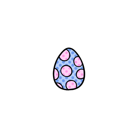 cartoon painted easter egg