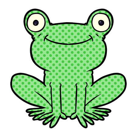 cartoon frog illustration design Illustration