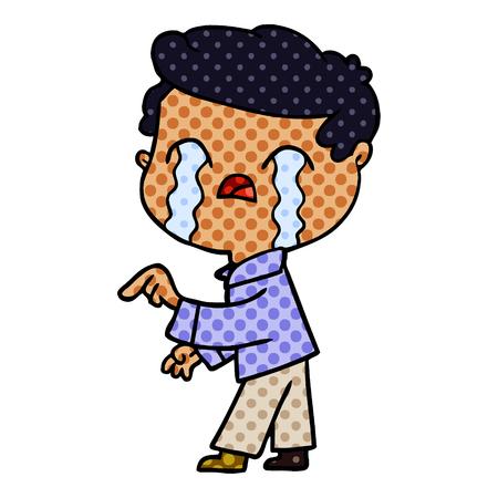cartoon man crying Foto de archivo - 95639930