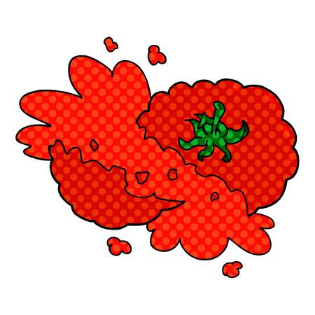 Cartoon zerquetschte Tomate Standard-Bild - 95639989