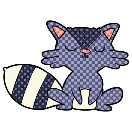 cute cartoon raccoon Banque d'images - 95639997