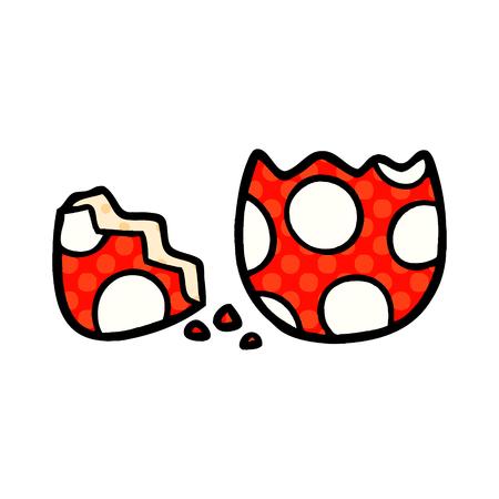 漫画のひび割れ塗装イースターエッグ